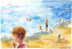 初夏の海辺