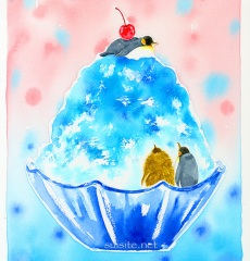 penguin shaved ice