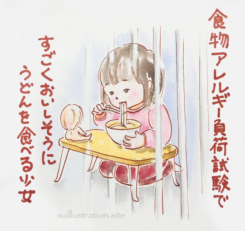 食物アレルギー負荷検査入院 〜クルミ0.5g〜