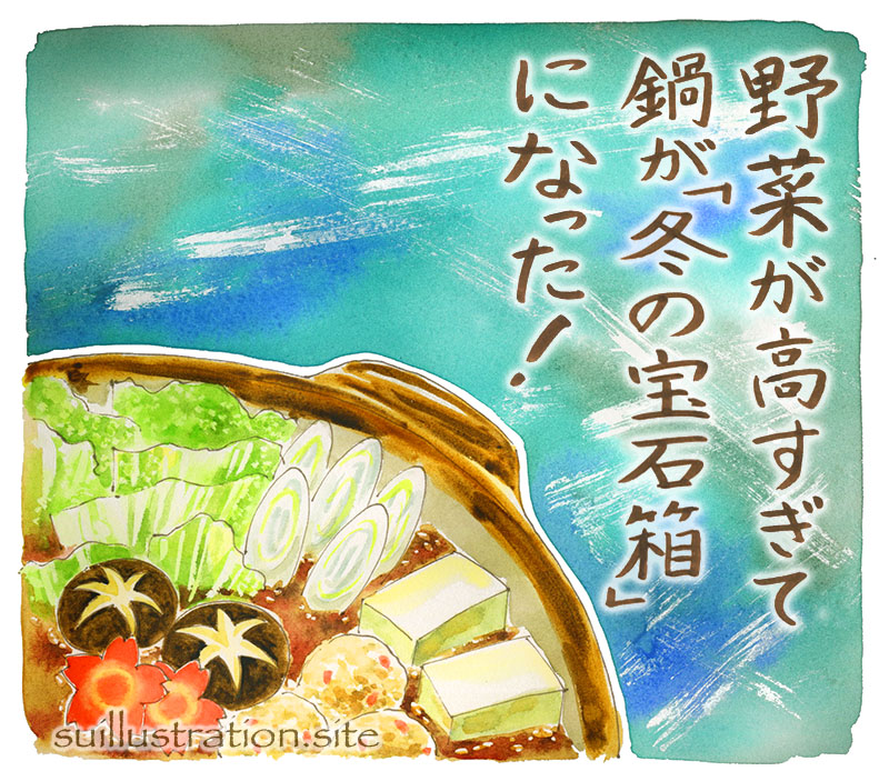 野菜が高すぎて鍋が「冬の宝石箱」に!
